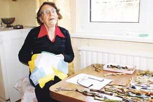 Didžiausias Danutės Ragainienės pomėgis - siuvinėjimas.